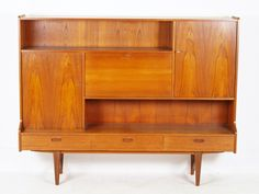 For sale: Teak Highboard by Lefèvre Omer Meubelfabriek (O. Flat Ideas, Secretary, Credenza, Teak, Cabinet, Storage, Furniture, Vintage, Design