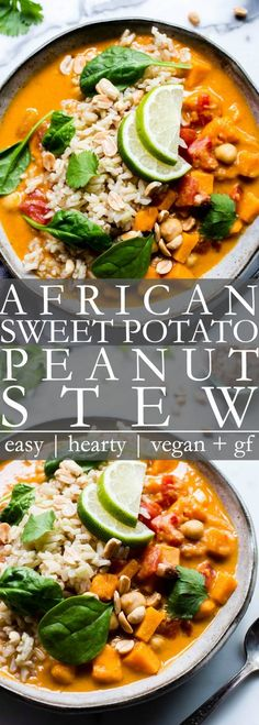 Comforting, And Nourishing With A Bit Of A Kick, Vegan West African Peanut Stew With Chickpeas Or Black Eyed Peas Comes Together Fast And Is Freezer Friendly This Hearty Stew Is Vegetarian, Vegan And Easily Gluten Free Vanillaandbean African Stew, African Peanut Stew, West African Food, Soup Recipes, Vegan Recipes, Dinner Recipes, Cooking Recipes, Vegetarian Stew, Vegan Stew