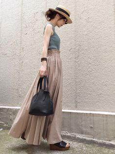 Spick and Span Nobleのスカート「Pスパンタイプライタータックギャザースカート◆」を使ったari☆のコーディネートです。WEARはモデル・俳優・ショップスタッフなどの着こなしをチェックできるファッションコーディネートサイトです。