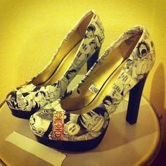 Custom comic book or manga heels. Your size, and comic/manga of your choice | eBay    one piece heels <3