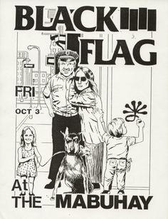 Raymond Pettibon - The Art of Black Flag (1980s) | #ASX