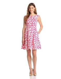 Maggy London Women's Dot Cap Sleeve Fit End Flare, Hot Pink, 6 Maggy London,http://www.amazon.com/dp/B00ANK75LO/ref=cm_sw_r_pi_dp_MF7wrb40C43941A8