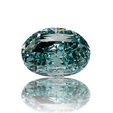 Blue Natural Diamond 0 .50 Ct Fancy Vivid Color GIA Certified Loose Oval Cut