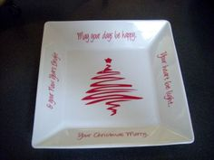 christmas vinyl or sharpie and bake in the oven- words to Christmas song?