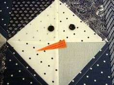 Using half square triangles, sew up this super simple snowman pillow. Great for beginner sewers and perfect for the winter and holidays.