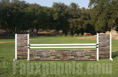 Create a sophisticated jumping circuit with DIY horse jumps.