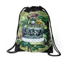 """Vintage Dreams"" -  Royal Crown & Roses Drawstring Bag"