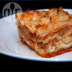 Lasaña de carne fácil @ allrecipes.com.mx