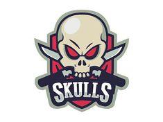 Hasil gambar untuk skull sports logo