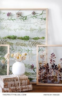 Capturing A Beautiful Moment In Time Pressed flowers in a glass frame
