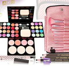 Chinatera Facial Makeup Set Brushes Eyeliner Eyeshadow Blush Palette Powder Kit Sets Maquillage *** Find out more about the great makeup products at the image link.