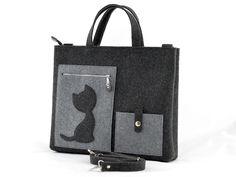 Duża+grafitowa+torebka+-+laptopówka+z+kotem+w+Green+Sheep+na+DaWanda.com