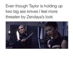 true. I'd also rather look like Zendaya. She has amazing fierce and totally dangerous beauty-look going on.