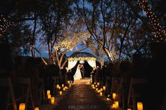 Southern Claifornia Wedding Outdoor Evening Gazebo Ceremony at Padua Hills Theatre