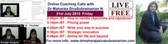 #Free #onlinelearning #coaching calls with @DrMaharajaN  going on now. Click to join  : http://drmaharajasivasubramanian.com/join-us-for-the-current-live-online-coaching-call/