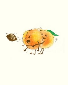"""Heimlich"" By Laser Bread #fruit #peach #funny"