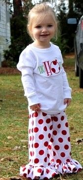 Adorable Christmas Outfit for a little girl