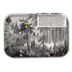 Wonderful black and white Moomin tray. Handmade and with illustrations by Tove Jansson. High quality wood, made in Sweden. Suitable for the dishwasher. Add something beautiful to your dinner table!