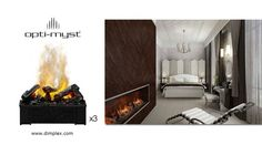 Custom Opti-Myst Cassette (Large) Fireplace using 3 units Fireplace Seating, Home Comforts, Baseboards, Electric Fireplaces, Home Appliances, The Unit, House, Illusion, Smoke