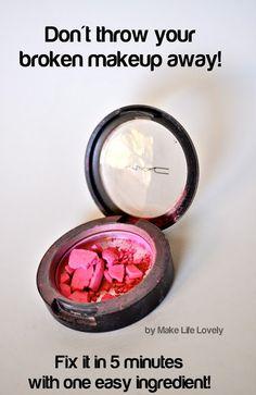 How To Fix Any Broken Powder Makeup