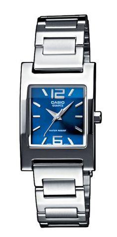 CASIO Collection LTP-1283D-2A2EF - Reloj de mujer de cuarzo, correa de acero inoxidable