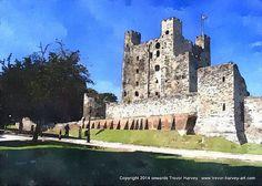 Fine Art Print Rochester Castle English Historic Art by FineArtUK, https://www.etsy.com/uk/listing/193703564/fine-art-print-rochester-castle-english?ref=shop_home_active_8