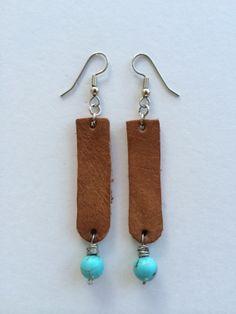 Leather earrings by twigsandbones