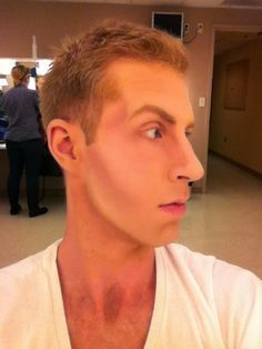 Basic stage makeup for masculinity