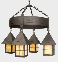 Iron light fixture