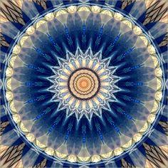 Christine Bässler - Mandala blau