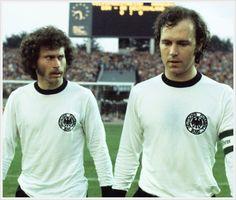 Paul Breitner e Franz Beckenbauer, 1970