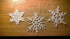 śnieżynki, płatki śniegu wiecej na wydzierganaskarpetka.blogspot.com