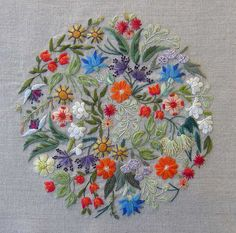 FLORALIES Embroidery Kit. This company has Beautiful designs! Threads not included with kit.
