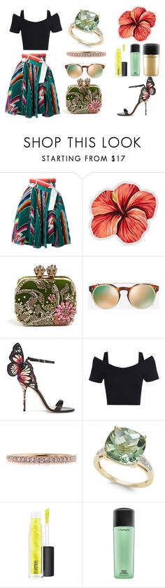 """Tropical"" by obscura ❤ liked on Polyvore featuring Sacai, LaMont, Alexander McQueen, Valentino, Sophia Webster, Mark Broumand and MAC Cosmetics"
