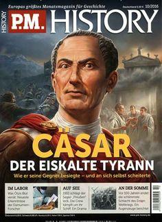 #Cäsar - Der eiskalte #Tyrann 👑 #AntikesRom #Geschichte #Antike  Jetzt in PM #History, Ausgabe 10/2016.