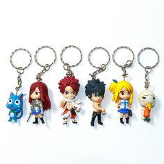 Fairy Tail Anime Key Chains 6 Piece Set - OtakuForest.com