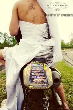 Trash the dress. You only wear it once! haha this is my brother and his future wife at their wedding