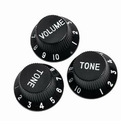 3pcs Speed Control Knobs -One Volume Tow Tones Black - Electric Guitar Parts Fender Strat Replacement by Guitar control knob/switch/plate. $1.99. 100% brand new and testing is fine High quality  For Fender Strat Guitar Coulor:black Material:plastic  Split Shaft:6mm(about 0.24 inch)  Quantity: 1 SETS (1 VOLUME, 1 TONE KNOBS)  Package Includes:3 PC knobs (1 VOLUME, 2 TONE KNOBS) We manufacture all kinds of instrument parts and conduct The direct model so that our price is very lo...