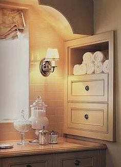 Add Bathroom Storage with Between-the-Studs Shelves or Cubbies