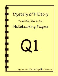 Free notebooking pages for use with Mystery of History (MOH) keep checking back for the update. Not available atm. 23/10/12