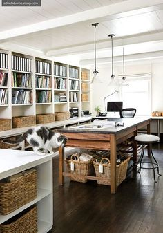 Atlanta Homes & Lifestyles {eclectic vintage industrial rustic modern studio / study / work space} | von recent settlers