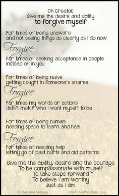 The Self-Forgiveness Prayer