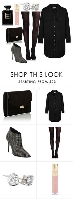 """""""Untitled #3382"""" by fcharese ❤ liked on Polyvore featuring Mansur Gavriel, Equipment, Giuseppe Zanotti, SPANX, Smith & Cult and Chanel"""