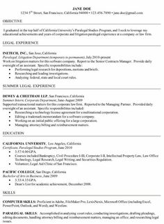Certified Paralegal Resume Sample  HttpResumesdesignCom