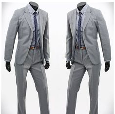 Light Gray Worsted Wool Suit [Light Gray Worsted Wool Suit] - Custom Suits, | Shirts | Sport | Coats | Tailor