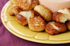 Soft Pretzel Bites. Good night!  I just found my Mecca of yeast foods!!!  =)