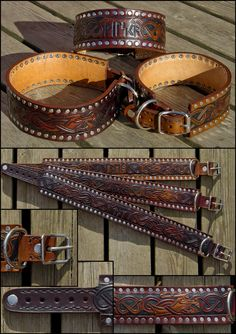 Stafford Viking Dog Collars by Wodenswolf.deviantart.com on @deviantART