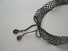 Crochet Collar by Polarinett on Etsy #Collar #Black #Necklace #Crochet