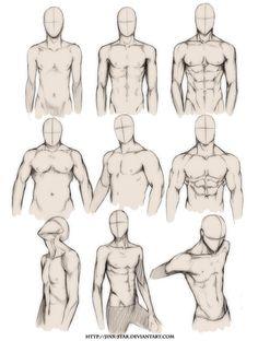 draw male body - Pesquisa Google
