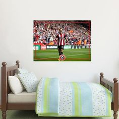 Shop Sheffield United FC Football Gifts, Wall Stickers, Murals, Art & Merchandise online in store. SUFC Bedroom Decor, better than posters & wallpaper Sheffield United Football, Sheffield United Fc, Football Stickers, Football Cards, Football Team, Mural Wall, Wall Art, Football Bedroom, Bedroom Furniture